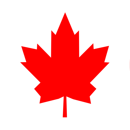 canadian flag circle graphic
