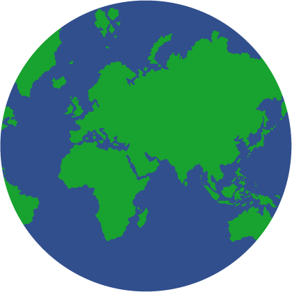 world globe circle graphic