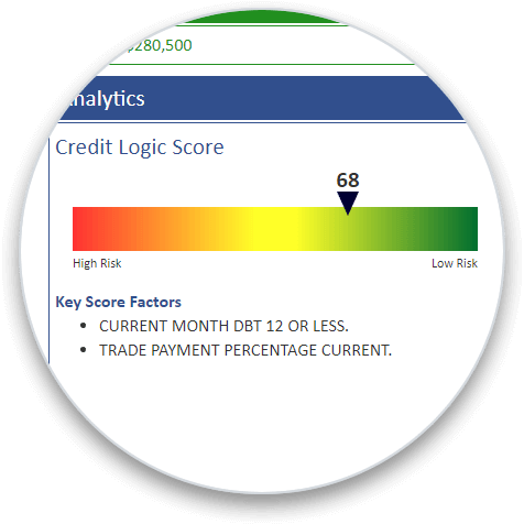 Credit Logic Score circle graphic