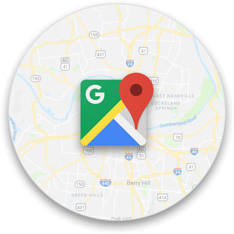 Google Maps circle graphic